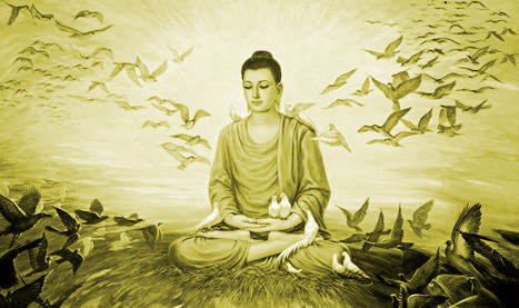 buddha-in-the world - Nagarjuna's in praise of worshipping sentient beings - satvaaraadhana stave
