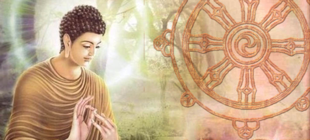 Buddha Turning the Wheel of Dharma