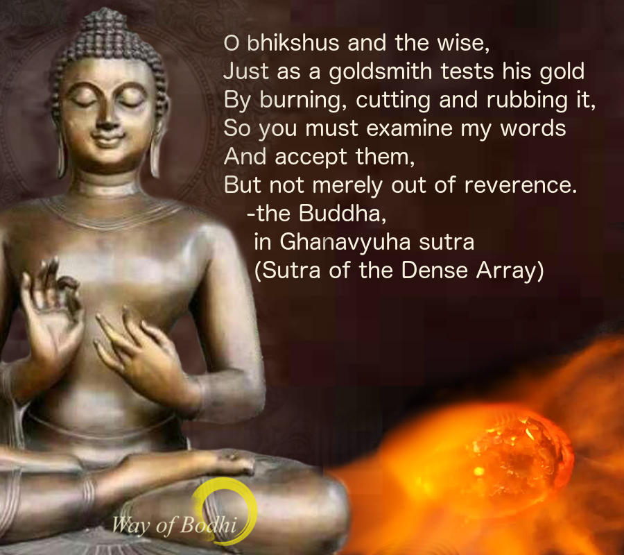 Dharma Quote - Just as a goldsmith