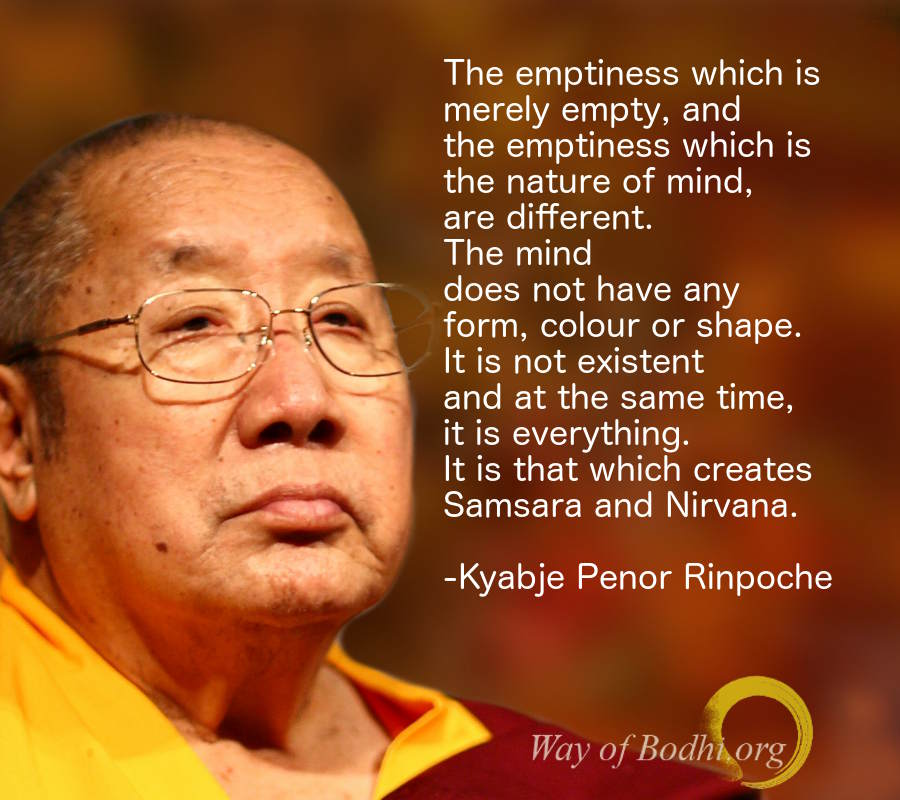 Kyabje Penor Rinpoche on Emptiness