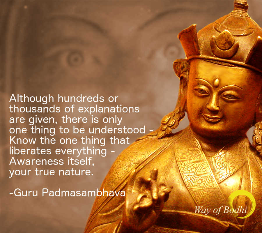 "Guru Padmasambhava's quote on ""Knowing one thing liberates all"""