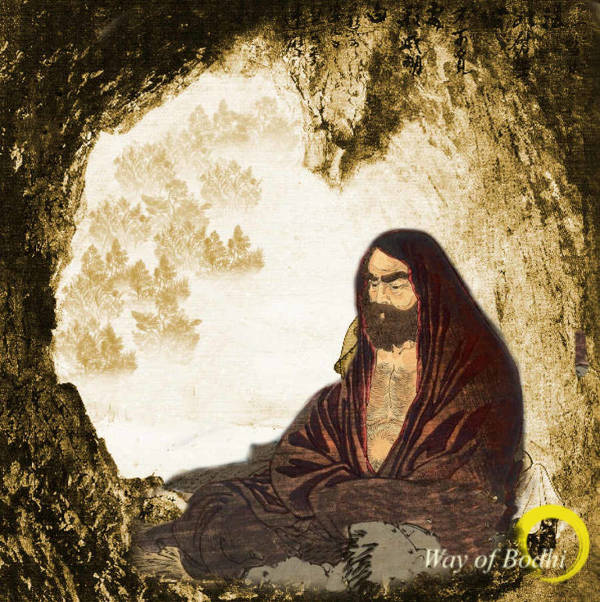 Bodhidharma spent nine years meditating in a cave near Shaolin Monastery