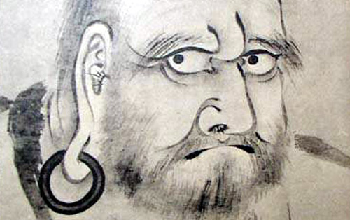 The wide-eyed yogi, Bodhidharma