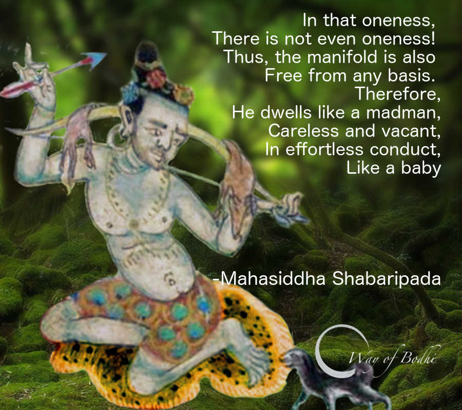 Mahasiddha Shavaripa's quote from Doha-kosha on carefree conduct and compassion