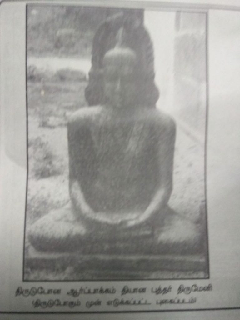 Lost Buddha statue, Arpakkam in the outskirts of Kanchi.