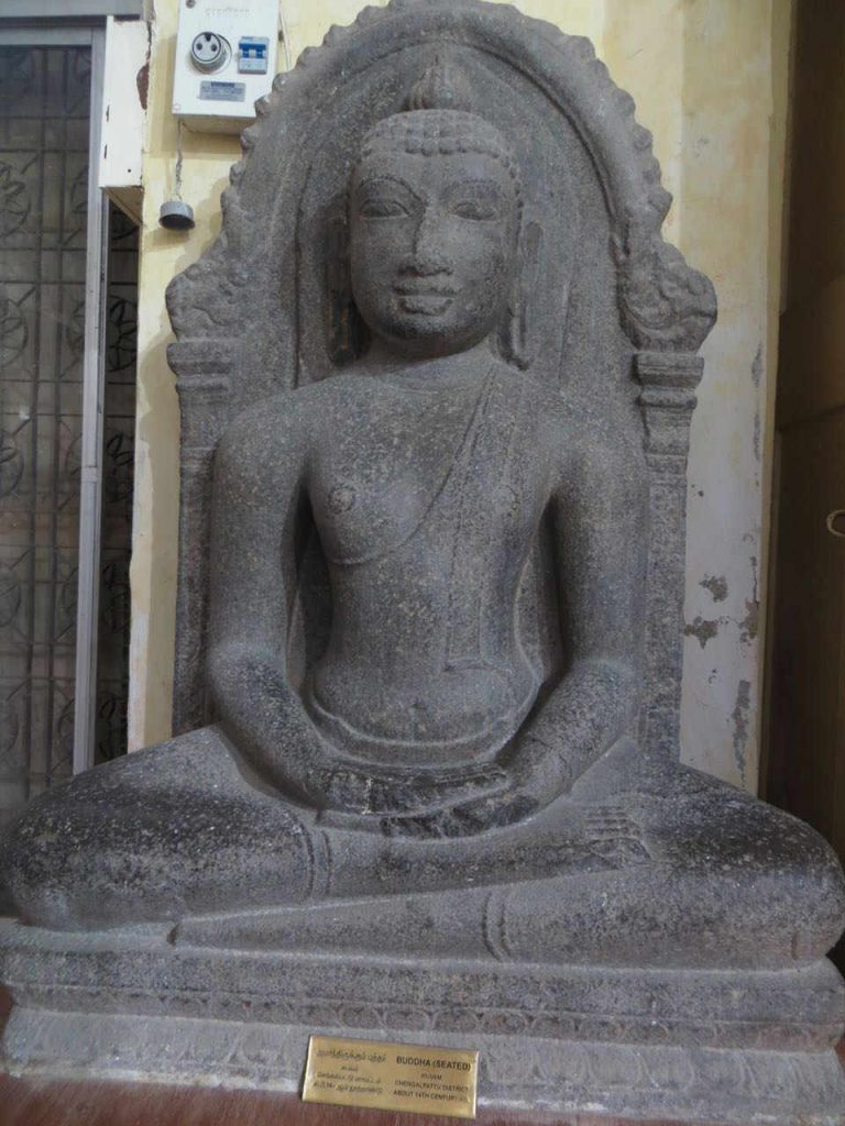 Buddha from Koovam near Kanchi. Now at Chennai Museum.