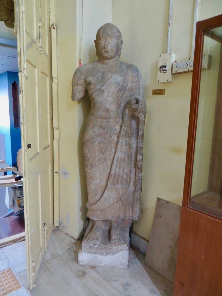 Ancient Buddha statue from Kanchi Kamakshi Temple (as reported by Gopinatha Rao) now kept in Chennai Museum .