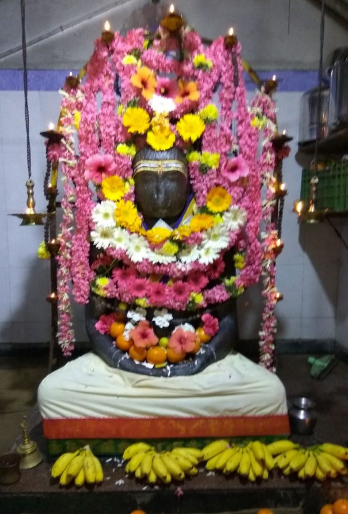 Ancient Buddha statue at Ariyankuppam, Pondicherry