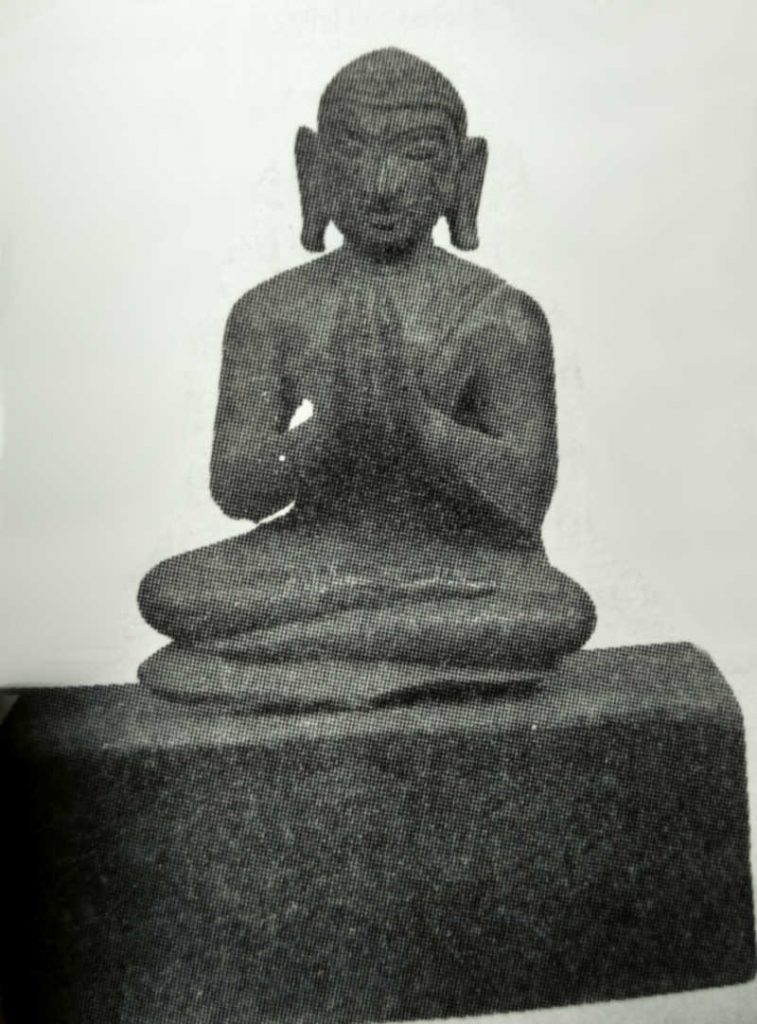 Ancient statue of Bhikshu from Nagapatttinam, Tamil Nadu.