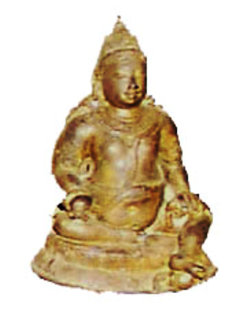 Ancient Buddhist statue of Jambhala from Nagapatttinam, Tamil Nadu.