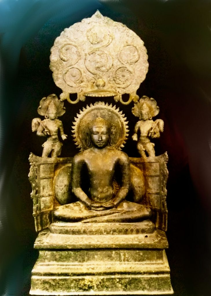 Ancient statue of Buddha from Nagapatttinam, Tamil Nadu.