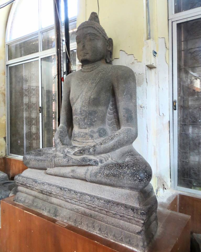 Ancient Buddha statue from Elaiyur, Ariyalur district, Tamil Nadu. Now in Chennai Museum.