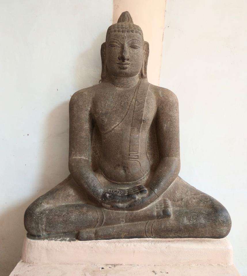 Ancient Buddha statue from Patteeswaram near Kumbakonam, Thanjavur district, Tamil Nadu. Now in Thanjavur Art Gallery.