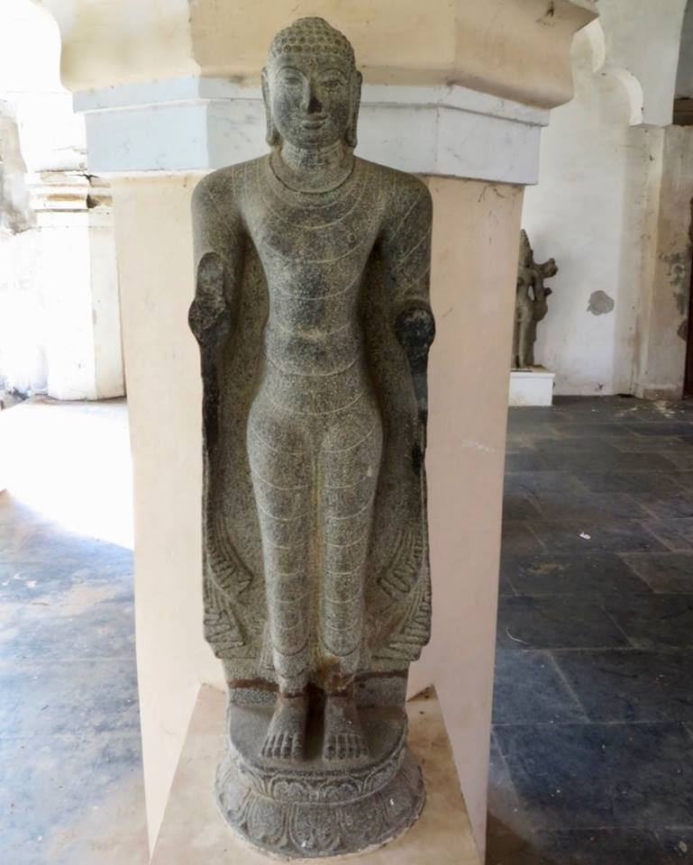 Ancient Buddha statue from Thanjavur district, Tamil Nadu. Now kept in Durbar Hall Museum, Thanjavur.