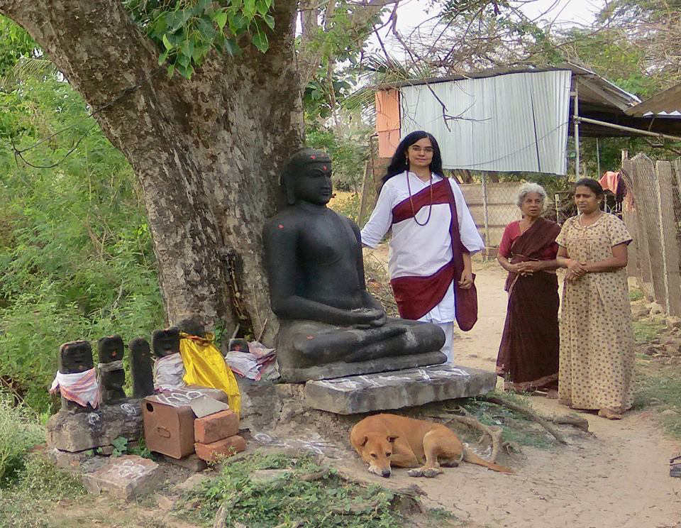 Ancient Buddha statue at Thirunellikaval, Thiruvarur district, Tamil Nadu.