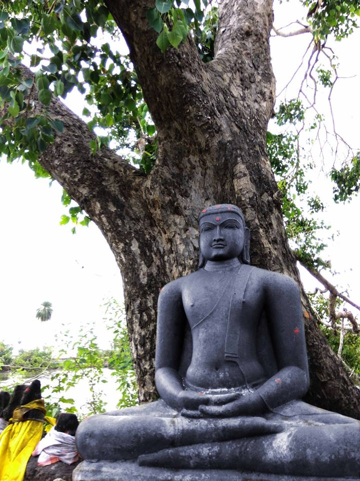 Ancient Buddha statue at Thirunellikaval, Tiruvarur district, Tamil Nadu.