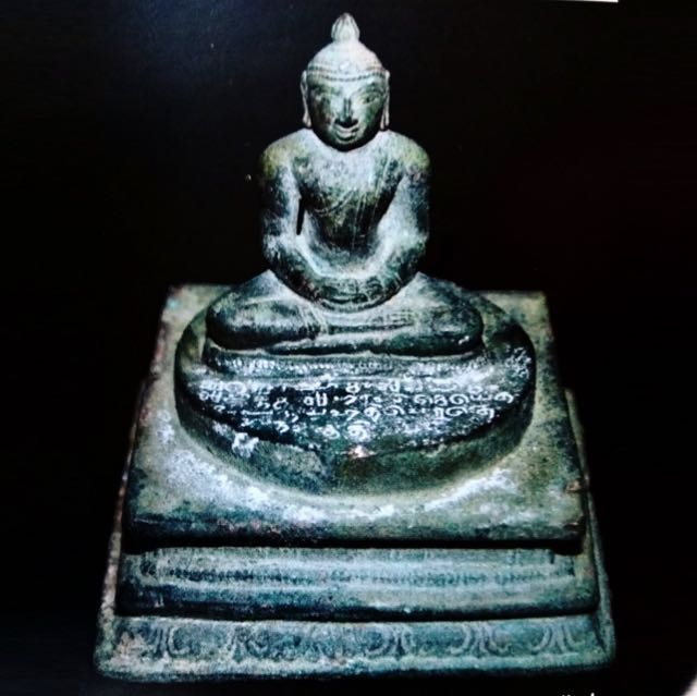 An ancient bronze statue of Buddha unearthed in Sellur, Thirvarur dist. Tamil Nadu