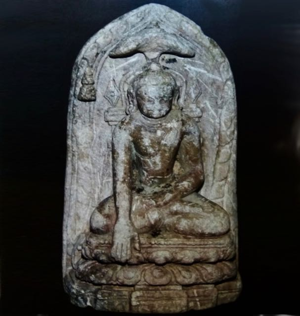 An ancient marble statue of Buddha unearthed in Sellur, Thirvarur dist. Tamil Nadu