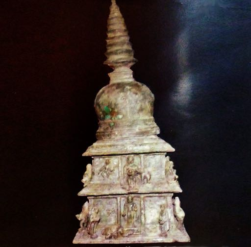 An ancient reliquary stupa unearthed in Sellur, Tamil Nadu