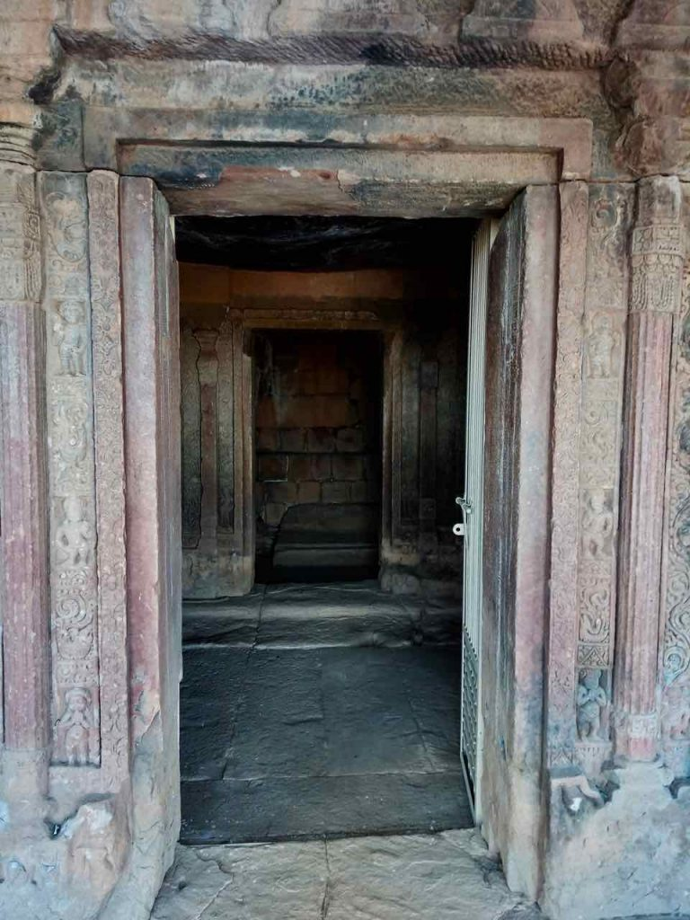 Carvings in the Door Jambs of Ancient Buddhist Vihara of Aihole