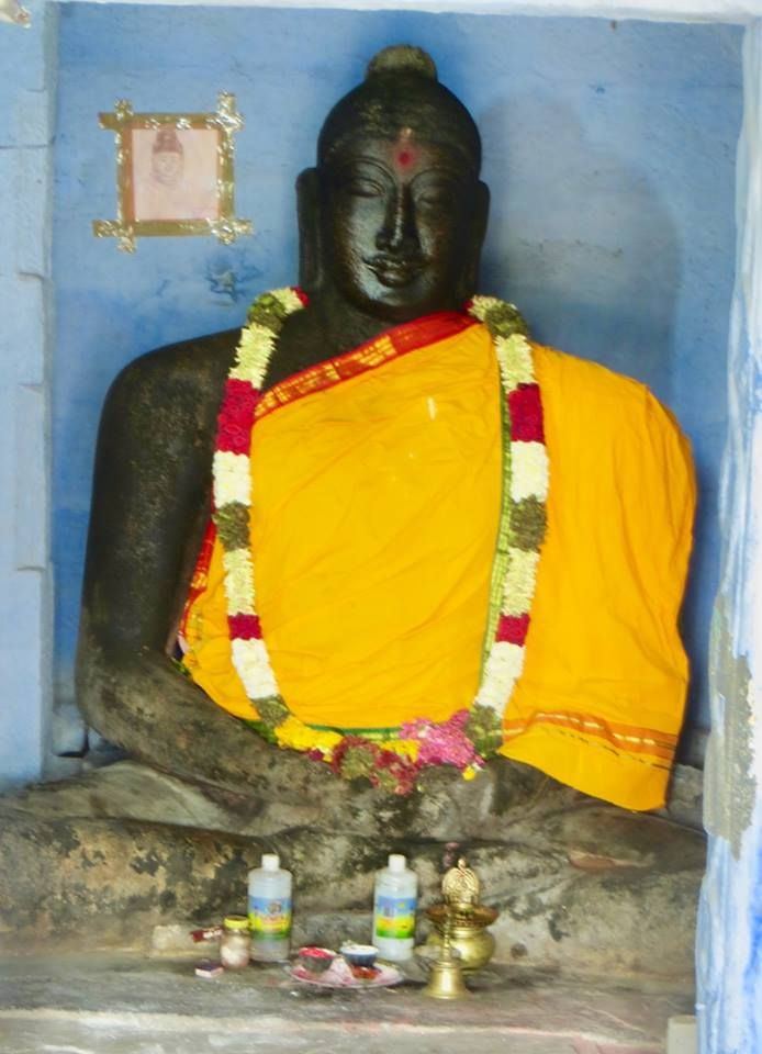 Ancient Buddha statue in Thiyaganur, Salem district, Tamil Nadu.