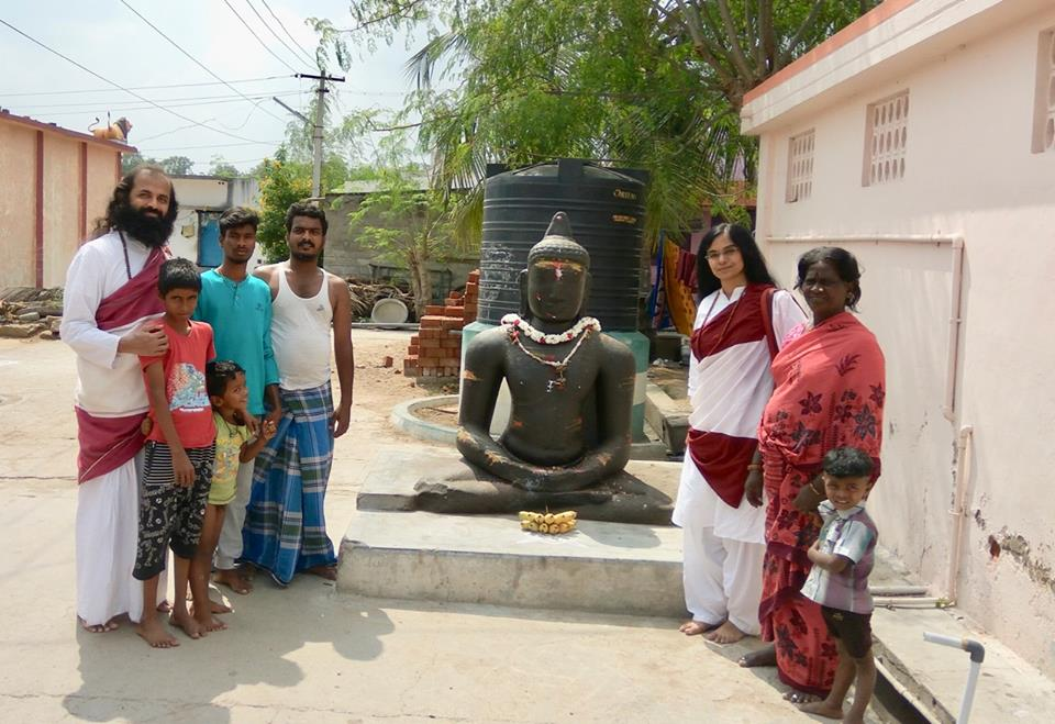 Ancient Buddha statue in Veeraganur, Salem district, Tamil Nadu.