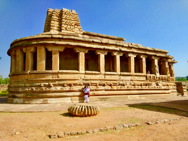 Apsidal temple in Aihole, Buddhist influence in Aihole temple architecture.