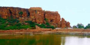 View of the Badami Cave
