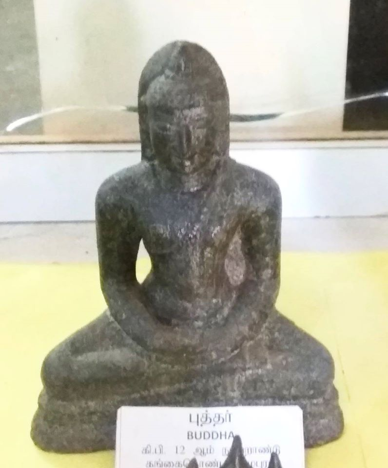 Ancient Buddha statue from Valangaiman, Thirvarur, Tamil Nadu