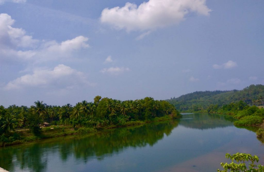 The Haigunda island in the middle of Sharavathi river