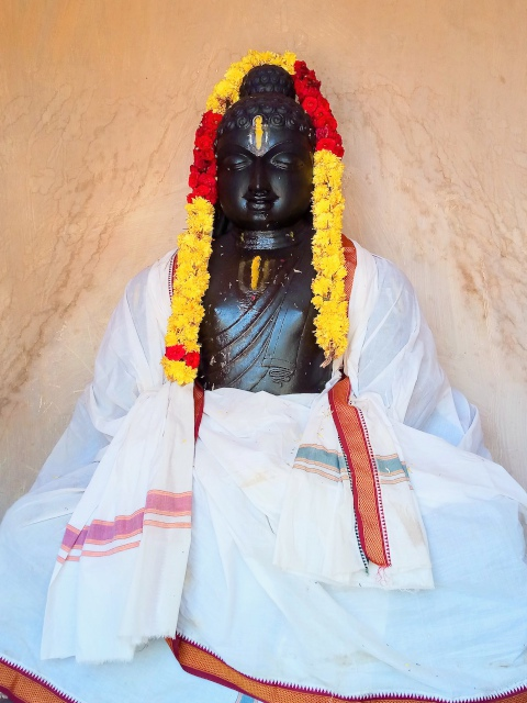 New Buddha statue at Padavedu, Tiruvannamalai