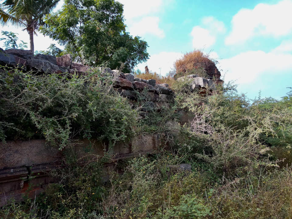 Dilapidated Temple near the ancient Buddha statue of Ulagiyanallur, Kallakurichi.